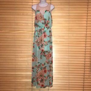 Lush Maxi Floral Print Dress
